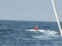 Tsunami warning buoy recovery Photo