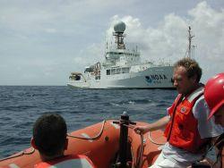 Returning to the NOAA Ship RONALD H Photo