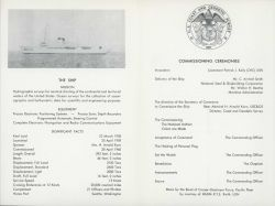 Invitation to the launching of the Coast and Geodetic Survey Ship SURVEYOR on April 25, 1959 Photo