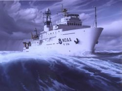 Painting of NOAA Ship GORDON GUNTER Photo