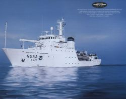 Painting of NOAA Ship THOMAS JEFFERESON with 200th Anniversary logo Photo