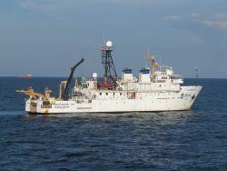 NOAA Ship GORDON GUNTER during Deepwater Horizon disaster studies. Photo