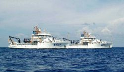 NOAA Ship BELL SHIMADA (R227) and PISCES (R226) Photo