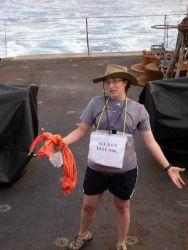 All Back Full Wog displaying name tag during equator crossing ceremony on the NOAA Ship KA'IMIMOANA (R333) Photo