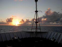 Literally sailing into the sunset on the NOAA Ship KA'IMIMOANA Photo