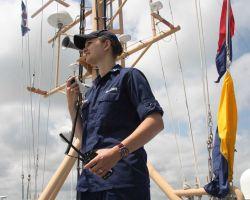 Lieutenant Madeleine Adler on the NOAA Ship FERDINAND R Photo