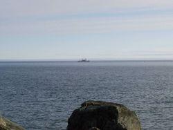 NOAA Ship MILLER FREEMAN seen offshore. Photo