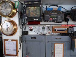 Bridge display of trawl operations on the NOAA Ship MILLER FREEMAN. Photo