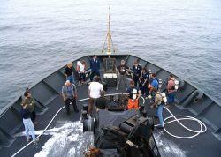 Damage control drill on NOAA Ship MILLER FREEMAN. Photo