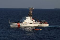 Coast Guard Cutter KNIGHT ISLAND, a 110-foot patrol boat, is homeported in St Photo