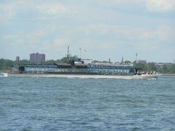 The glass-enclosed New York City sight-seeing vessel CELESTIAL. Photo
