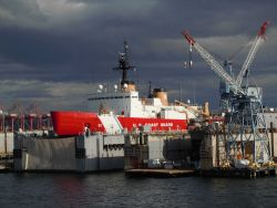 USCGC POLAR SEA in shipyard Photo