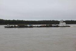 Push boat on the Yukon River Photo