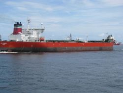 Tanker LOCH RANNOCH on-site at the Deepwater Horizon disaster during well containment andcleanup efforts. Photo