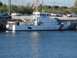 Coast Guard 87-foot patrol boat at its home base Photo
