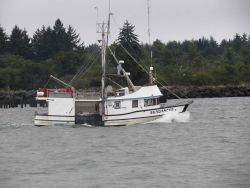 Small fishing boat SUNDANCER in Columbia River Photo