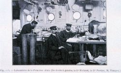 The laboratory on the Princess Alice with Dr Photo