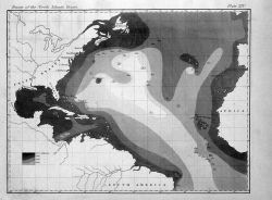 The very earliest rendition of a bathymetric map of an oceanic basin Photo