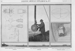 Reginald Fessenden and his electric oscillator, the first acoustic device to receive echoes from the bottom as well as from an obstruction in the wate Photo