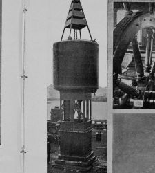 A submarine bell-buoy equipped for underwater signaling ready for installation off South Africa Photo