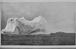 The United States Revenue Cutter MIAMI close to an iceberg similar to that which destroyed the TITANIC Photo