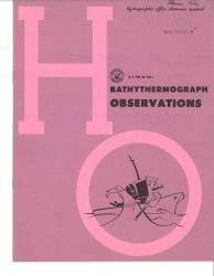 1952 publication on Bathythermograph Observations. Photo