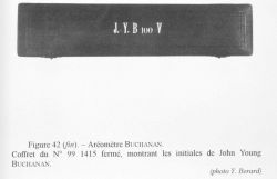 Figure 42 (end.) A Buchanan hydrometer instrument case with the initials of John Y Photo