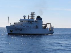 NOAA Ship OSCAR DYSON seen from the NOAA Ship MILLER FREEMAN. Photo