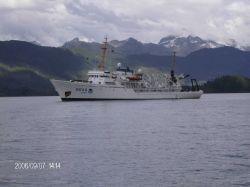 NOAA Ship FAIRWEATHER in Simpson Bay, Cordova area. Photo