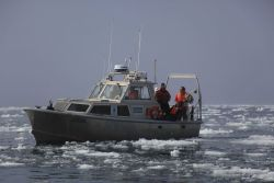 NOAA survey launch north of Point Barrow in the Beaufort Sea. Photo