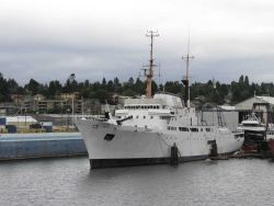Former NOAA Ship DISCOVERER rechristened the SAHARA. Photo