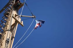 Time for a new flag on the NOAA Ship FAIRWEATHER Photo