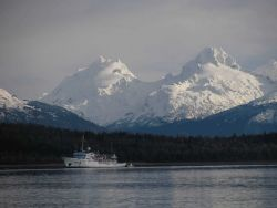 NOAA Ship FAIRWEATHER in Alaskan waters. Photo
