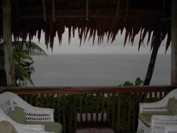 Looking out over the Pacific Ocean from the veranda of a Pohnpei restaurant -