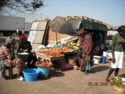 An open air market on the outskirts of Dakar. Photo