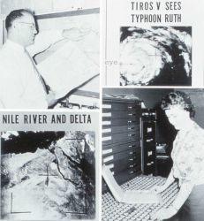 Composite imagery touting the accomplishments of TIROS V Photo