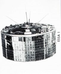 ESSA I, a TIROS cartwheel satellite launched on February 3, 1966. Photo