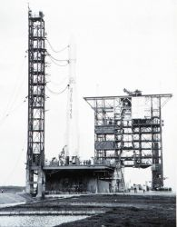 The Delta 37 rocket ready to launch ESSA II Photo