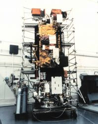 Meteorological satellite NOAA K being readied for launch. Photo