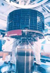 TIROS satellite mated to rocket for launching. Photo