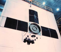 An Improved TIROS Operational System (ITOS)satellite prior to launch. Image