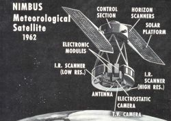 Artist's conception of NIMBUS meteorological satellite system Image