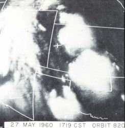 Experience with TIROS showed that bright clouds with relatively well-defined edges and isolated from a main cloud mass, could be indicators of severe  Photo
