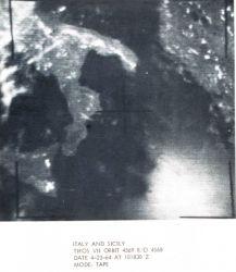 TIROS VII orbit 4569 R/O 7679 image of Italy and Sicily Photo