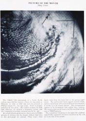 A North Pacific extratropical cyclone as seen from TIROS VIII, pass 764/762, camera I, frame 13 Photo