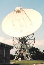 26-meter polar-orbiting satellite antenna. Photo