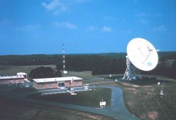 Pre-GOES satellite antenna configuration at Wallops Island Photo