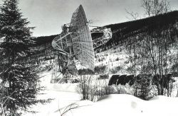 The large Command and Data Acquisition Station antenna at Gillmore Creek Photo