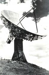 A 60-foot parabolic antenna used for radio propagation experiments in the troposphere Photo