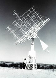 A specialized satellite data receiving antenna. Photo